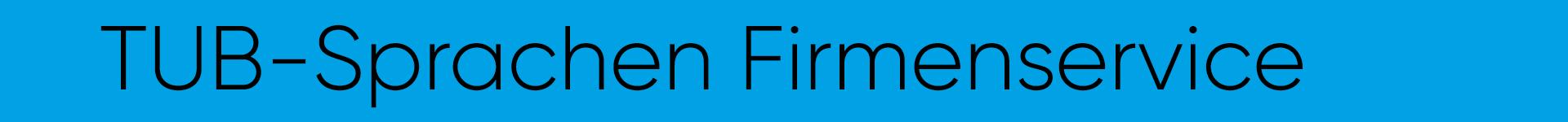 TUB-Sprachen Firmenservice